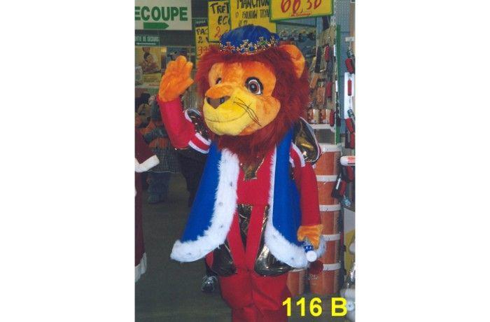 location mascotte roi lion 116 b costume mascotte paris 77 ile de france. Black Bedroom Furniture Sets. Home Design Ideas