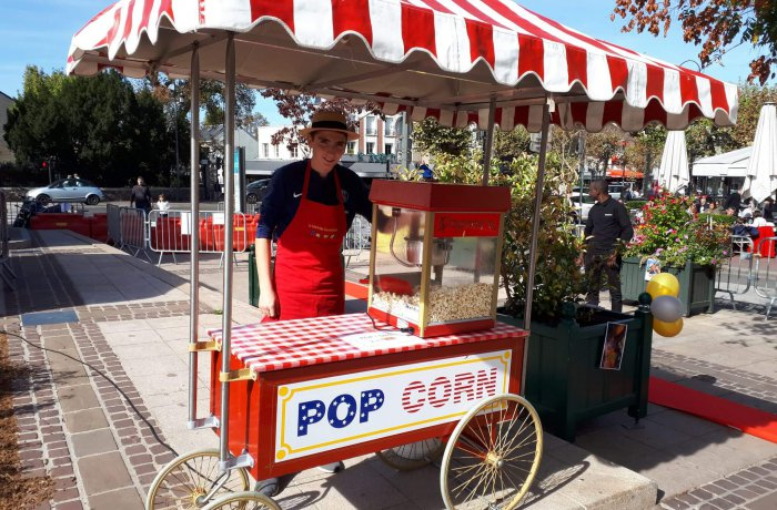 location Stand pop-corn sur grand chariot ile de france