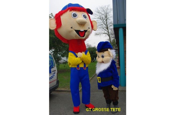 location Mascotte à grosse tête GT 01 ile de france