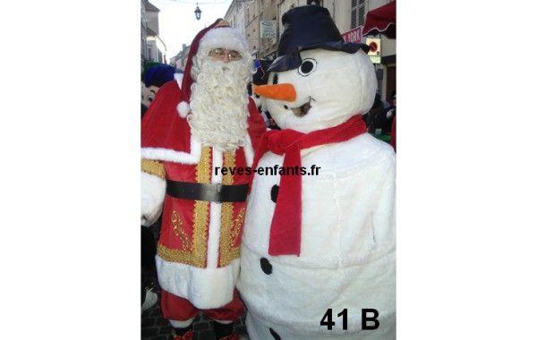 Mascotte bonhomme de neige 41 B
