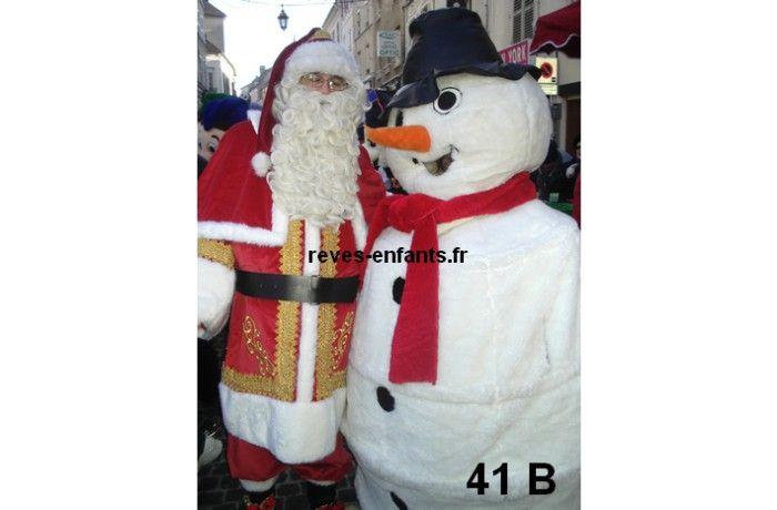 location Mascotte bonhomme de neige 41 B ile de france